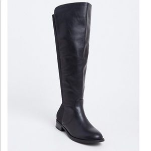 Torrid Faux Leather Stretch Over the Knee Boots